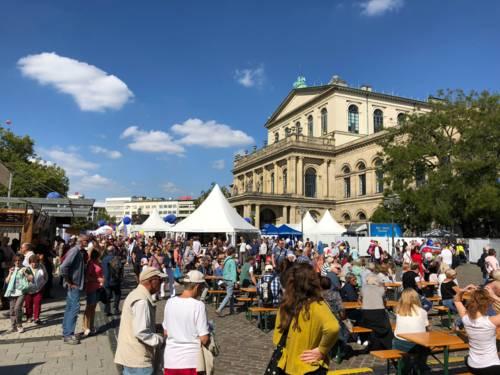 Impression von der Großveranstaltung am Opernplatz.