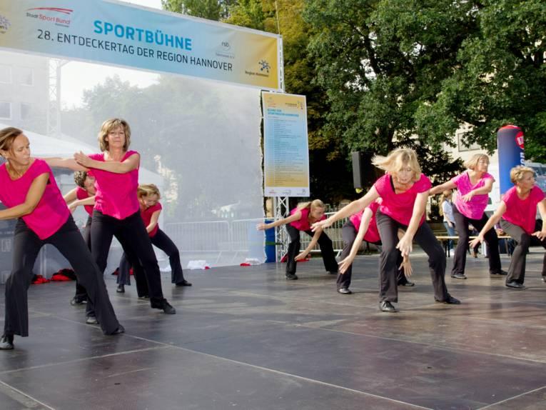 Tanz auf der Sportbühne