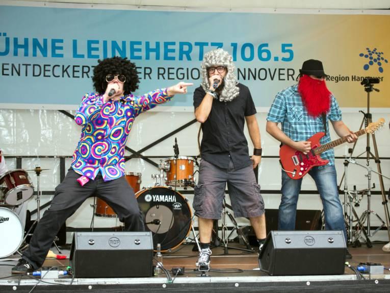 Auftritt Bühne Radio Leinehertz 106.5