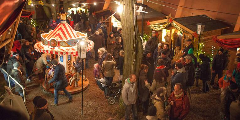 Weihnachtsmarkt Lindener Berg.Weihnachtsdorf Lindener Turm
